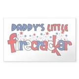 Daddy's Little Firecracker Rectangle Decal
