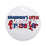 Grandma's Little Firecracker Ornament (Round)