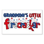 Grandma's Little Firecracker Rectangle Sticker