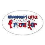 Grandma's Little Firecracker Oval Sticker