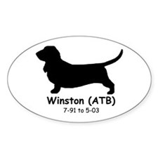 Winston Oval Decal