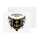 Proud Navy Mom Greeting Card