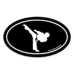 Martial Arts Euro Bumper Oval Sticker -Black