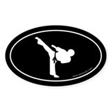 Martial Arts Euro Bumper Oval Sticker -Black