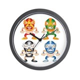 Mexican Wrestling! Wall Clock
