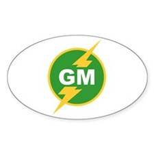 GM Groomsman Oval Decal