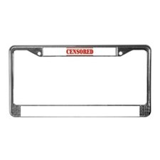 Censored License Plate Frame