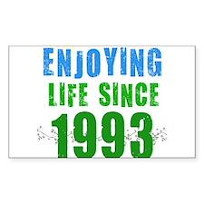 Enjoying Life Since 1993 Rectangle Decal