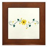 Beach Sunflower-no outline Framed Tile