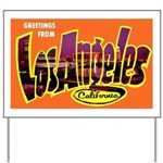 Los Angeles California Greeti Yard Sign