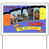 Orlando Florida Greetings Yard Sign
