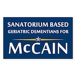 Geriatric Dementians for McCain (sticker)