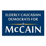 Elderly Caucasian Democrats For McCain Decal