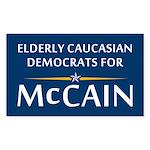 Elderly Caucasian Democrats For McCain Sticker