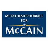 Metathesiophobiacs For McCain Rectangle Decal