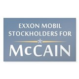 Exxon Mobil Stockholders for McCain Decal
