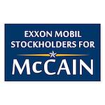 Exxon Mobil Stockholders for McCain Sticker