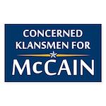 Concerned Klansmen Rectangle Sticker