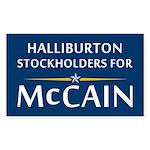 Halliburton Stockholders For McCain Sticker