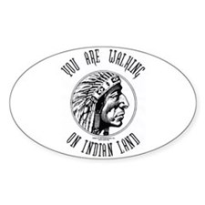 Walking on Indian Land Logo Oval Decal