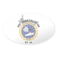 USS Constellation CV-64 Oval Sticker (50 pk)