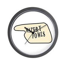 Watery Fowls Wall Clock