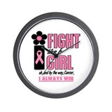 Fight Like A Girl 2 (Pink) Wall Clock