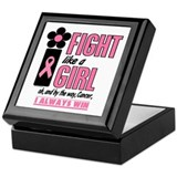 Fight Like A Girl 2 (Pink) Keepsake Box