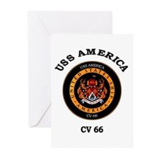 USS America CV-66 Greeting Cards (Pk of 10)