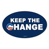 Keep Change Anti-Obama Oval Decal