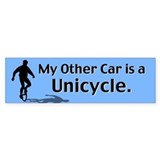 My Other Car is a Unicycle Bumper Car Sticker