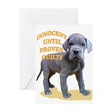 blue dane puppy Greeting Card
