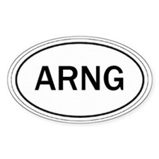 Army National Guard Oval Decal