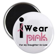 "I Wear Pink (DIL) 2.25"" Magnet (10 pack)"
