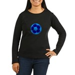 Blue Soccer Ball Women's Long Sleeve Dark T-Shirt