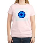 Blue Soccer Ball Women's Light T-Shirt