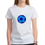 Blue Soccer Ball Women's T-Shirt