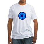 Blue Soccer Ball Fitted T-Shirt