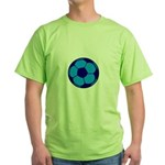 Blue Soccer Ball Green T-Shirt