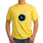 Blue Soccer Ball Yellow T-Shirt