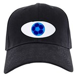 Blue Soccer Ball Black Cap