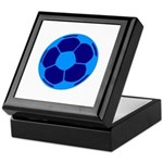 Blue Soccer Ball Keepsake Box