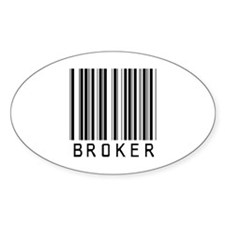 Broker Barcode Oval Decal