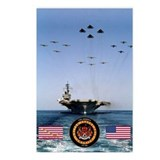 USS America CV-66 Postcards (Package of 8)