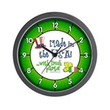 Made in the USA with Irish Parts Wall Clock