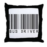 Bus Driver Barcode Throw Pillow
