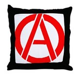 Anarchy Symbol Stencil Throw Pillow