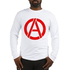 Anarchy Symbol Stencil Long Sleeve T-Shirt