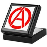 Anarchy Symbol Stencil Keepsake Box