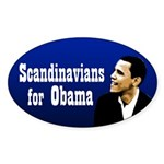Scandanavians for Obama bumper sticker